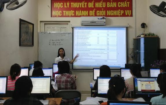 hoc thuc hanh ke toan Trung tâm đào tạo kế toán thực hành tốt nhất tại Hà Tĩnh