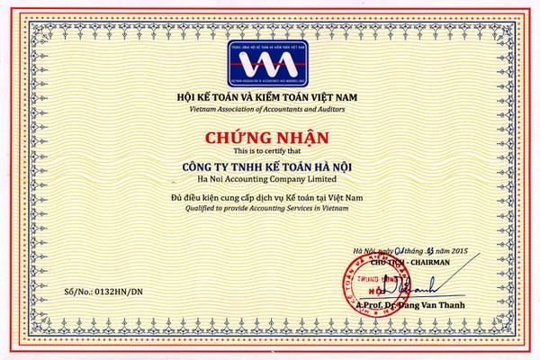 chung nhan hanh nghe dich vu ke toan Trung tâm đào tạo kế toán thực hành tại Gia Lâm, Hà Nội